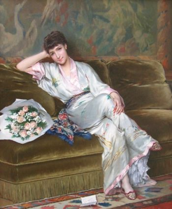 Le Billet Doux Huile Sur Toile | Gustave Leonard de Jonghe | oil painting