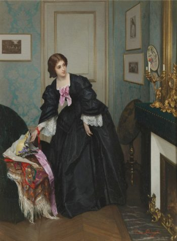 Look at the time | Gustave Leonard de Jonghe | oil painting