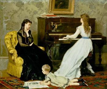 Music Hour | Gustave Leonard de Jonghe | oil painting