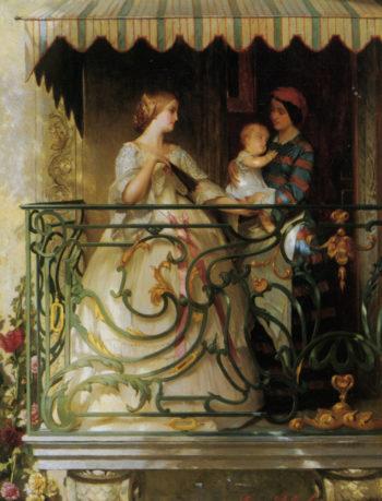 On The Balcony | Gustave Leonard de Jonghe | oil painting