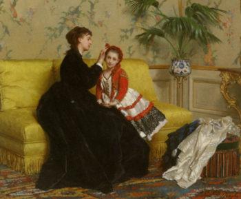 Preparing For The Ball | Gustave Leonard de Jonghe | oil painting