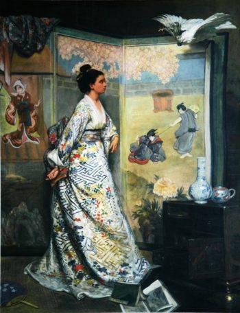 The Japanese Fan | Gustave Leonard de Jonghe | oil painting