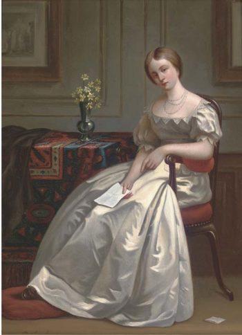 The Letter | Gustave Leonard de Jonghe | oil painting