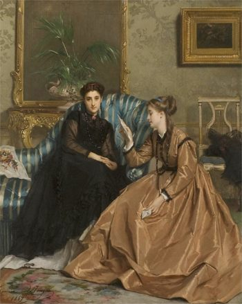 The Love Letter | Gustave Leonard de Jonghe | oil painting
