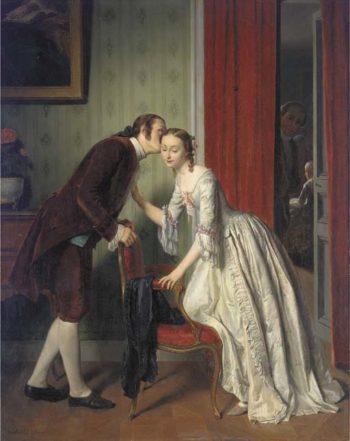 The Secret Whisper | Gustave Leonard de Jonghe | oil painting