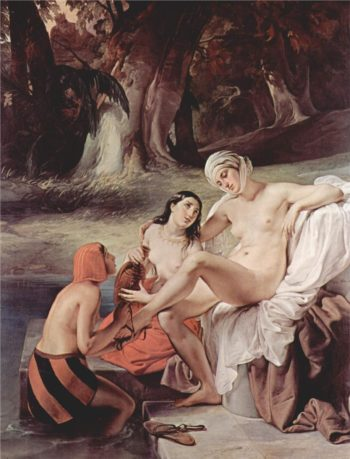 Bathing Bathsheba | Francesco Paolo Hayez | oil painting