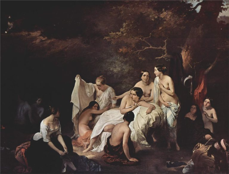 Bathing nymphs | Francesco Paolo Hayez | oil painting
