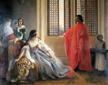 Caterina Cornaro Deposed from the Throne of Cyprus | Francesco Paolo Hayez | oil painting