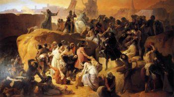 Crusaders near Jerusalem | Francesco Paolo Hayez | oil painting