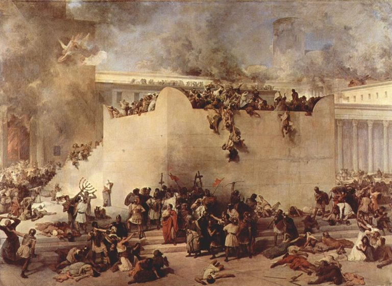 Destruction of Temple of Jerusalem | Francesco Paolo Hayez | oil painting