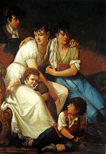 Family portrait | Francesco Paolo Hayez | oil painting