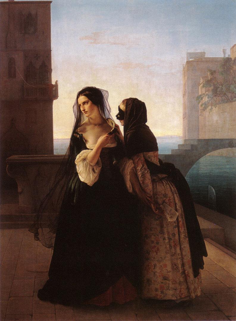 Il Consiglio alla Vendetta   Francesco Paolo Hayez   oil painting