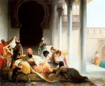Inside the Harem | Francesco Paolo Hayez | oil painting