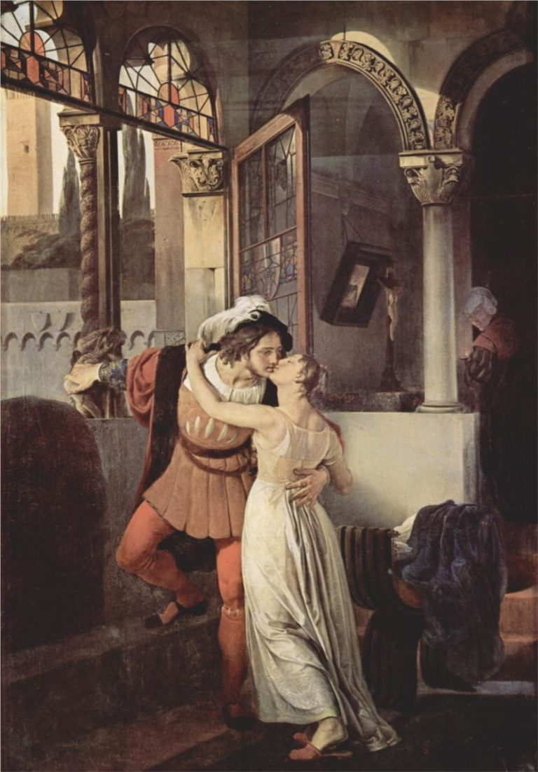 Last Kiss of Romeo and Juliet | Francesco Paolo Hayez | oil painting