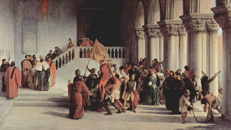 Liberation of Vittor Pisani | Francesco Paolo Hayez | oil painting