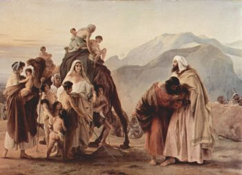 Meeting of Esau and Jacob | Francesco Paolo Hayez | oil painting