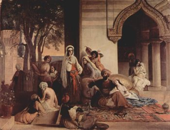 New Favorite in Harem | Francesco Paolo Hayez | oil painting
