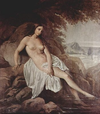 Nude Bather | Francesco Paolo Hayez | oil painting