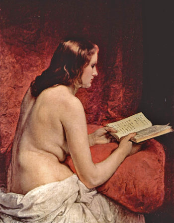 Odalisque with Book | Francesco Paolo Hayez | oil painting