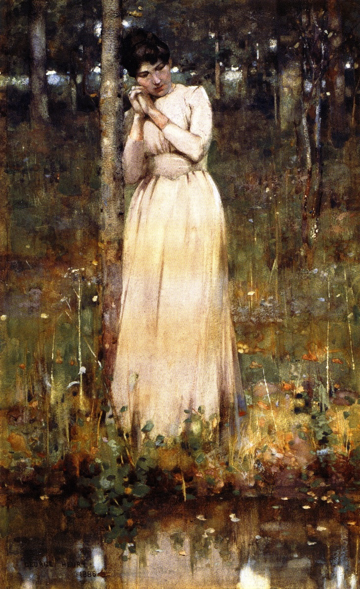The Girl in White | George Henry | oil painting