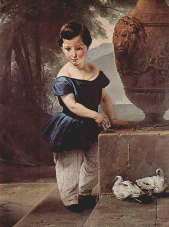 Portrait Don Giulio Vigoni as a Child | Francesco Paolo Hayez | oil painting