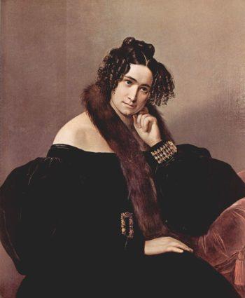 Portrait Felicina Caglio Perego di Cremnago | Francesco Paolo Hayez | oil painting