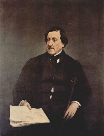 Portrait Giacomo Rossini | Francesco Paolo Hayez | oil painting
