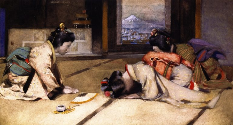 An At Home in Japan   George Henry   oil painting