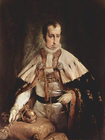 Portrait Kaisers Ferdinand I of Austria | Francesco Paolo Hayez | oil painting