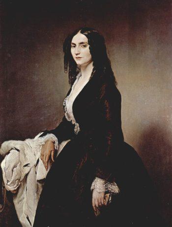 Portrait Matilde Juva Branca | Francesco Paolo Hayez | oil painting