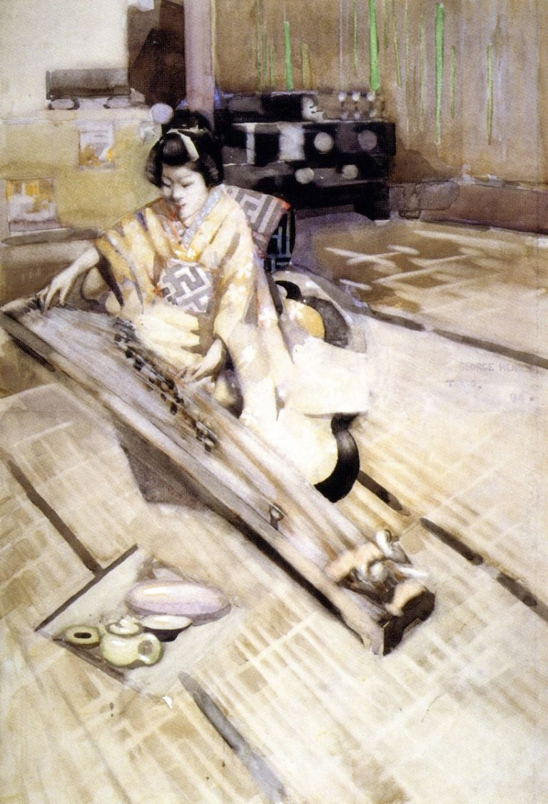 Koto Player Tokyo | George Henry | oil painting
