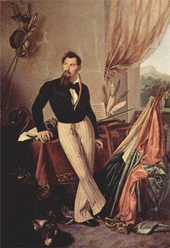 Portrait of Conte Baglioni | Francesco Paolo Hayez | oil painting