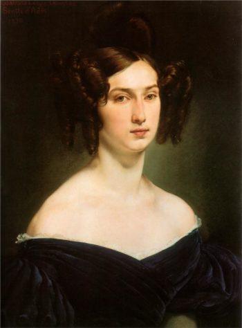 Portrait of Countess Luigia Douglas Scotti d'Adda | Francesco Paolo Hayez | oil painting