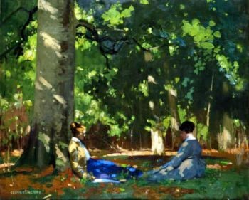 Under the Greenwood Tree | George Henry | oil painting