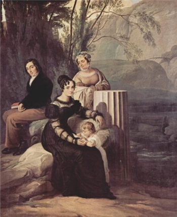 Portrait of Family Stampa di Soncino | Francesco Paolo Hayez | oil painting