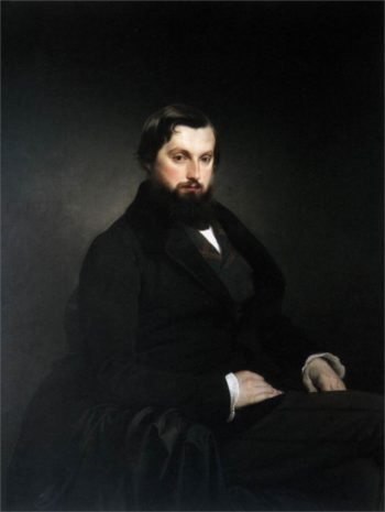 Portrait of Gian Giacomo Poldi Pezzoli | Francesco Paolo Hayez | oil painting