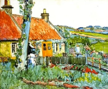 Cottage near Largo | George Leslie Hunter | oil painting