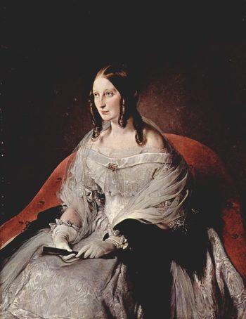 Portrait Princess di Sant' Antimo | Francesco Paolo Hayez | oil painting