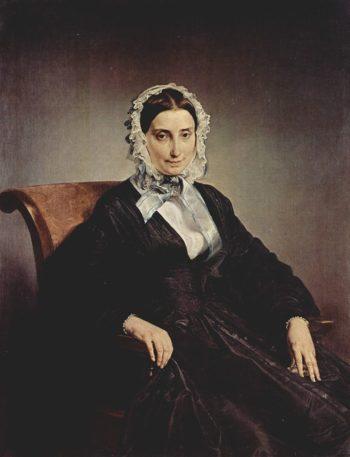 Portrait Teresa Borri widow of Stampa 2nd wife of Alessandro Manzoni | Francesco Paolo Hayez | oil painting
