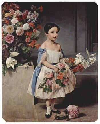 Portrait Young Countess Antonietta Negroni Prati Morosini | Francesco Paolo Hayez | oil painting