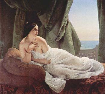 Reclining Odalisque | Francesco Paolo Hayez | oil painting