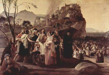 Refugees of Parga | Francesco Paolo Hayez | oil painting
