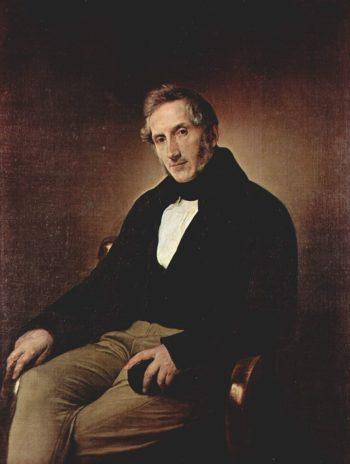 Ritratto di Alessandro Manzoni | Francesco Paolo Hayez | oil painting