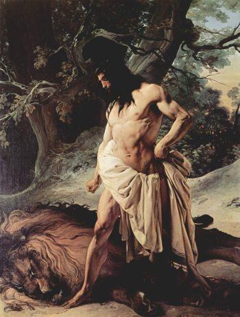 Samson and the Lion | Francesco Paolo Hayez | oil painting