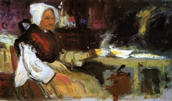 Woman in an Interior | George Leslie Hunter | oil painting