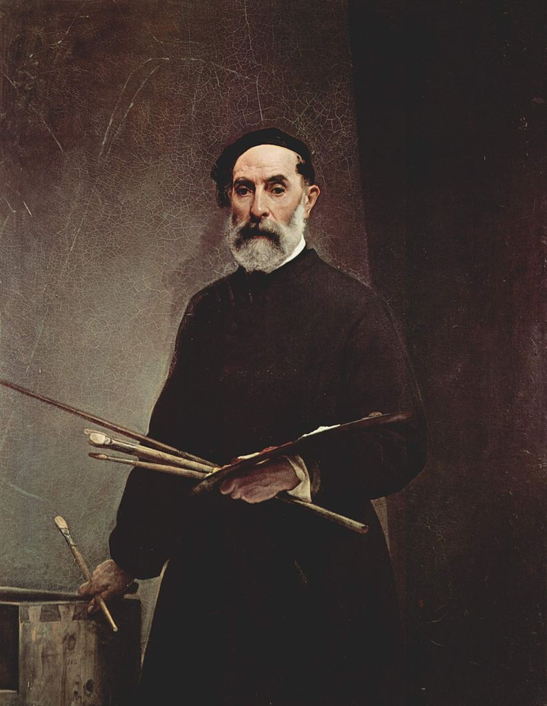 Self portrait at the age of 69 | Francesco Paolo Hayez | oil painting