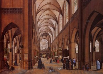 The Interior of the Cathedral of Antwerp | James Goodwyn Clonney | oil painting