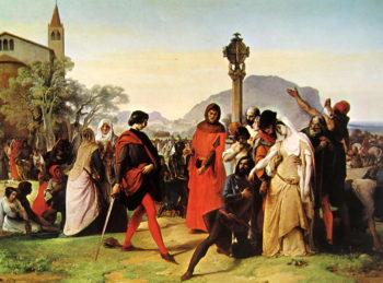 Sicilian Vespers scene 3 | Francesco Paolo Hayez | oil painting