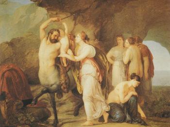 The Education of Achilles | Francesco Paolo Hayez | oil painting