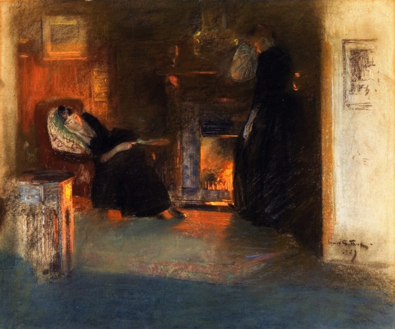 Firelight Reflections | James Guthrie | oil painting
